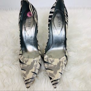 Guess by Marciano Animal Print Stiletto Heel Sz 9